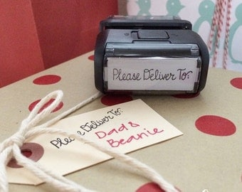 Please Deliver To self inking stamp