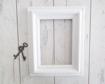 Shabby White Frame Photo Holder Wedding Decor Gallery Wall Nursery