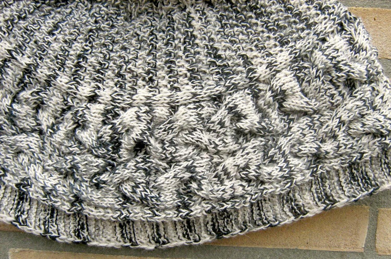 Cache paule de gris la main tricot col roul par polclary - Tricot a la main ...