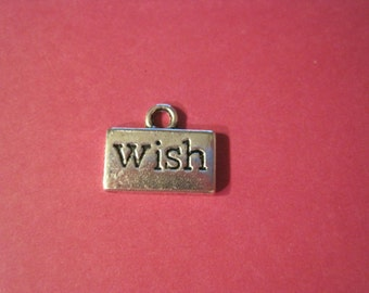 Last Set of 20 antique silver wish tag charms