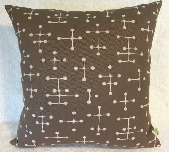 Mid Century Modern Lumbar Pillows : Eames Dot Khaki LUMBAR Pillow Cover Mid Century Modern