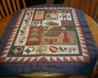 Log Cabin Sampler Art Quilt