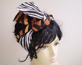African Zebra Head Wrap, African Animal Head Scarf, Zebra Head Scarf, African Animal Hair Wrap