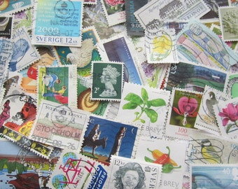 100 Worldwide Postage Stamps - 100 Used Postage Stamps From All Over The World