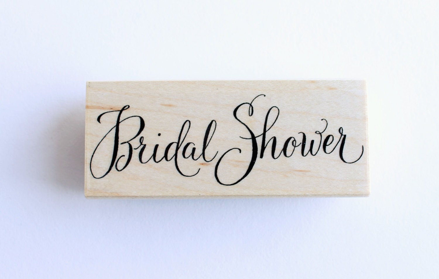 Bridal shower hand lettered rubber stamp wedding for Wedding dress rubber stamp