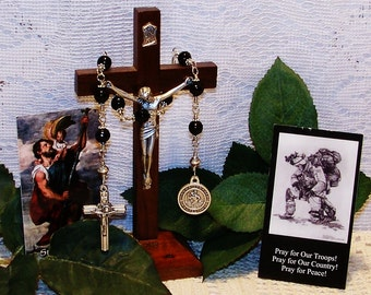 Navy Medal - Unbreakable Chaplet of St. Christopher - Patron Saint of Travellers, Transportation Workers and Against Floods