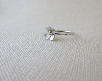 Sterling Silver and Brass Dogwood Flower Ring