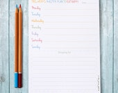 Weekly Meal Planner Pad – To Do List Notepad – Meal Planning – Organiser – Daily List Note Pad – Planner Pad – Eco Friendly Stationery