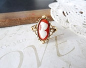 LILIAN vintage cream ivory cameo ring (gold)