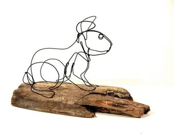 Bunny Wire Sculpture, Rabbit Wire Art, 227571577