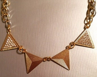 Geo Gold Necklace