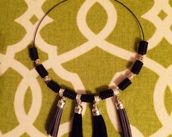 Suede Tassel Free Spirit Necklace