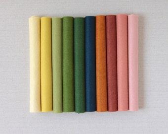 Wool Felt // Autumn Equinox // Merino Wool Blend Felt Sheets, Fall Felt Craft, Needlepoint and Sewing, Handmade Gifts, Felt Fabric, Felt