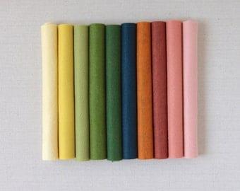 Wool Felt // Autumn Equinox // Die Cut Flowers, Felt Assortment, Felt Sheets, Merino Wool, Fall Color Palette, Wool Felt Sheets, DIY Flowers