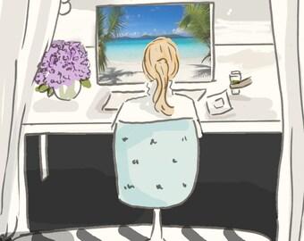 A Girl's Gotta Dream -  Art for Women - Quotes for Women  - Art for Women - Inspirational Art