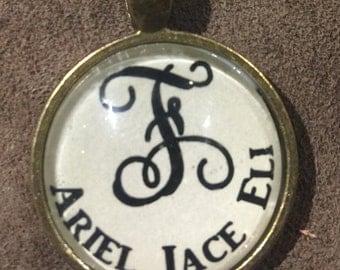 Family initial pendants!