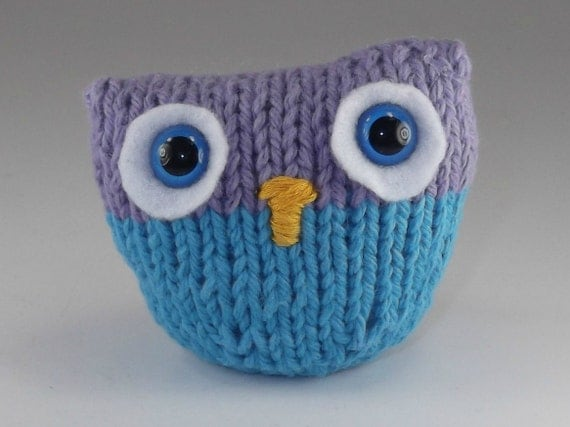 Knitted Owl Blue and Lavender Amigurumi by PJaysGallery on ...