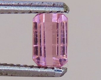0.95 cts faceted pink Tourmaline emerald cut afghanistan #2