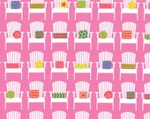 Adirondacks (Chair) Print in Hibiscus (Hot Pink, Yellow, Turquoise)  from the Sanibel Collection, by Moda