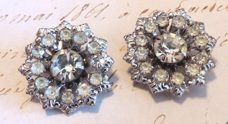 Rhinestone Earrings Vintage 53