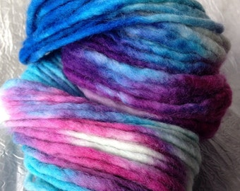 Hand Painted Uruguayan Bulky Sky Colours 100G yarn GL14, Bulky Art Yarn