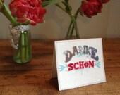 Embroidery Danke schon card