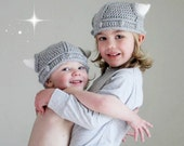 Childrens Viking Helmet with Horns Toddler Hat
