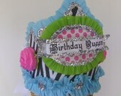 Birthday Hat - Crown BIRTHDAY QUEEN or customize - Birthday Party Crown-