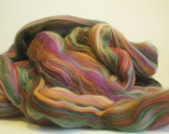 "Ashland Bay Multi Colored Merino for Spinning or Felting ""Rose Quartz""  4 oz."