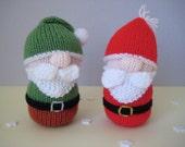 Santa and Gnome toy doll knitting patterns