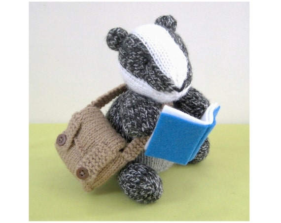 Brompton Badger toy knitting pattern