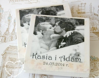 Wedding CD/DVD case, handpainted, personalized wedding keepsake box