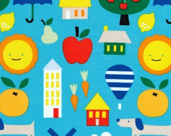 Organic CORDUROY Fabric - Cloud9 Small World Corduroy - Small World
