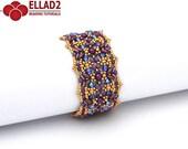 Tutorial Lantana Bracelet Beading Pattern Bracelet
