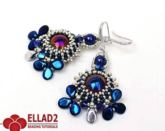 Tutorial Aylen Earrings - Beading tutorial,Instant download,Beading pattern,Jewelry Tutorial