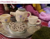 Black Friday Sale Crochet Tea Set for Two FREE SHIPPING
