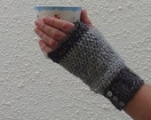 FINGERLESS mitts . Donegal tweed wool / Angora blend. ' Dove ' ..... Ready to ship.....