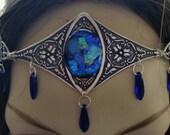 Cobalt Circlet of the Mermaid Warrior Elven celtic priestess druid cosplay bridal