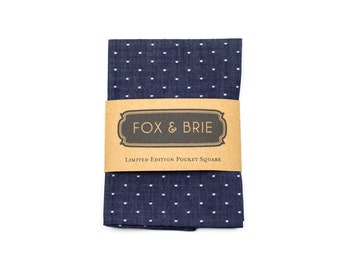 Indigo Dot Pocket Square