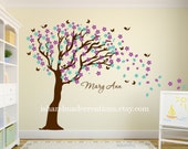 Cherry blossom Decal - Tree wall decal - Wall Tree Mural Large - Tree cherry blossom -  Tree wall mural -removable 90x110