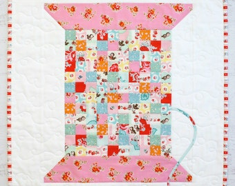 Vintage Cotton Reel Mini Quilt - PDF - Immediate Download