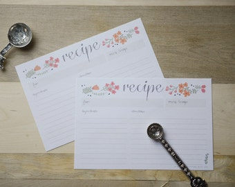 50 Whimsy Flower Recipe Cards