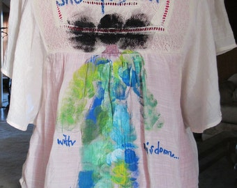 Hand Painted Shirt for Women
