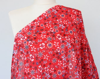 Floral scarf nursing cover breastfeeding cover infinity scarf red flower print gauze cotton women accessories mom fashion nursing scarf