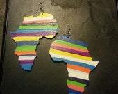 Africa Earrings in Stripes