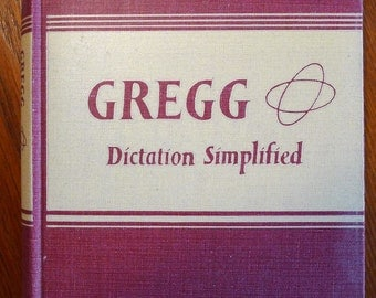 Vintage Gregg Dictation Simplified Shorthand book