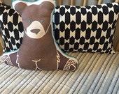 Aztec Nursery Crib Sheet / Standard or Mini Crib Bedding / Changing Pad Cover / Stripe Nursery Bedding / Leah Duncan for Nursery