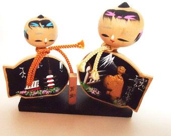 The Japanese Handmade Wooden Kokeshi Doll .50s.Personality