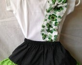 This is my Lucky Outfit - Baby Shamrock One Piece and Skirt - Size 6-9 mos - READY TO SHIP