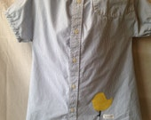 Little Chick - Upcycled Men's Shirt Dress - Size 1T - READY to SHIP!